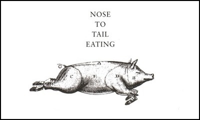 Cover page of the book Nose to tail eating – A kind of British cooking.