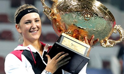 Victoria Azarenka: With the trophy.
